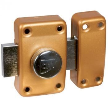 Verrou à bouton bronze - Cylindre