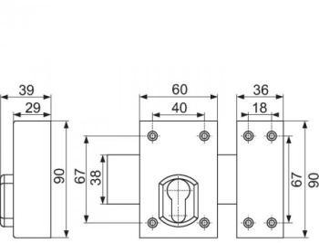 Verrou à cylindre inox - Sélection