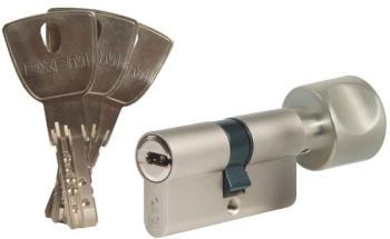 Cylindre à bouton varié nickelé