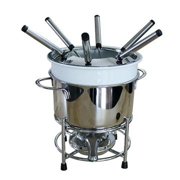 Service à fondue en inox 6