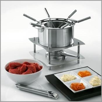Service multi fondue inox