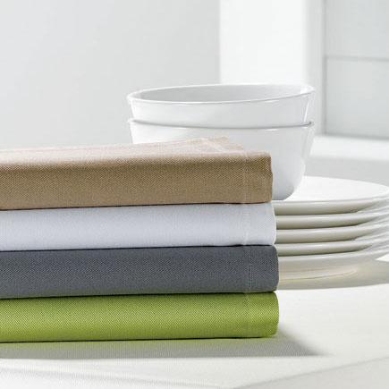 Lot de 6 serviettes 50 x 50