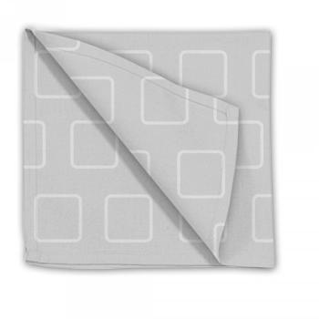 Serviette de table gris perle