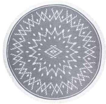 Fouta ronde Noir 60 x 80 cm