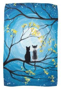 Lune lunatique avec des chats