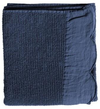 Serviette de douche bleu FRISE