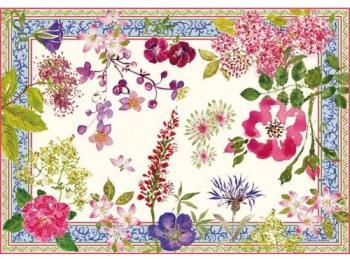 Set de table motif fleuri