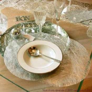 6 sets de table fanon métallisé