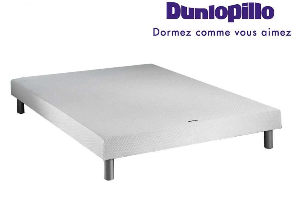 Dunlopillo csommier dunlosom pieds 2x90x200 - Sommier sur pied 160x200 ...