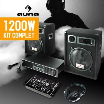 Pack DJ 1200W 2 enceintes