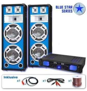 Pack DJ PA sono 1600W 2 enceinte