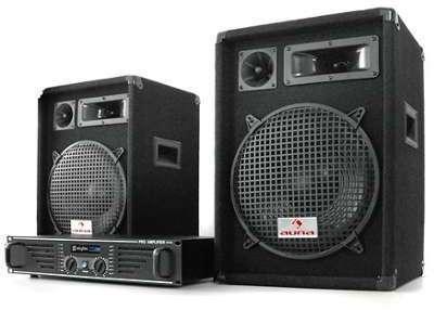 Pack Sono DJ PA Ampli 2x Enceintes