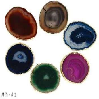 Dessous de verres agate bordée