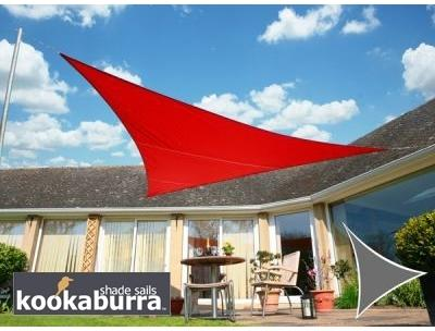 Voile d Ombrage Rouge Triangle