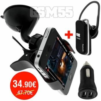 Pack Support Voiture Kit Bluetooth