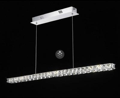 Suspension cristal LED barre
