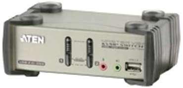 KVM 2 ports usb audio accédez