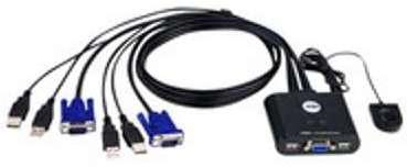 COMMUT KVM USB VGA 2 PORTS