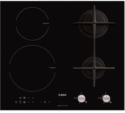 Aeg hd634170nb table mixte induction gaz - Table de cuisson mixte gaz induction boulanger ...