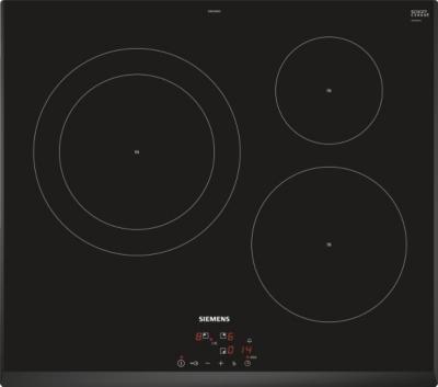 siemens table de cuisson induction 60cm 3 feux 7400w. Black Bedroom Furniture Sets. Home Design Ideas