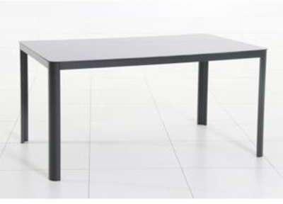 CREADOR Table aluminium plateau