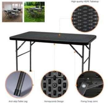 Table pliante de jardin 122cm