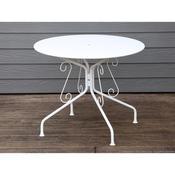Table de jardin en acier ronde
