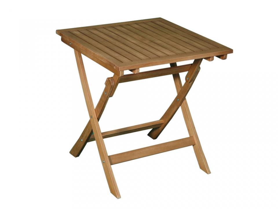 Id table repas carre 70cm grise julie allonge 70 c for Table de jardin carre