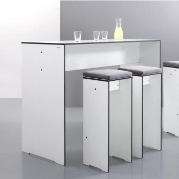 Riva - Table de bar - blanc