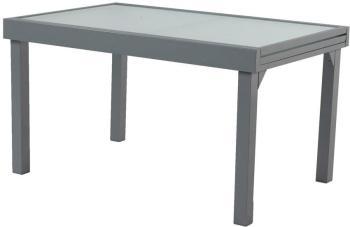 Table de jardin aluminium et verre hesperide - Table jardin alu et verre ...