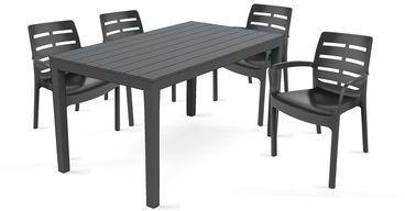 Table de jardin et 4 fauteuils