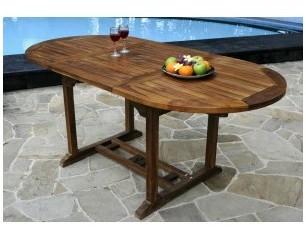 Table ovale de jardin en teck