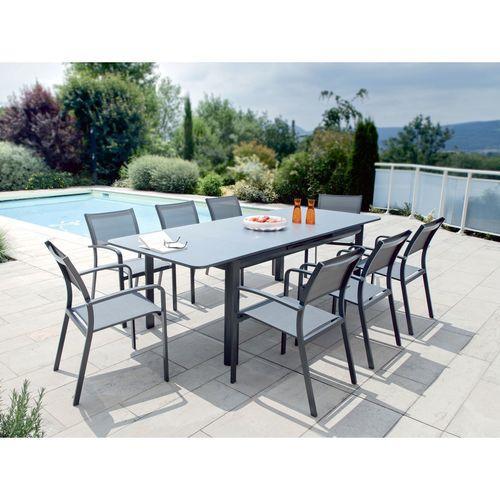 Catgorie table de jardin page 2 du guide et comparateur d for Salon de jardin aluminium gris