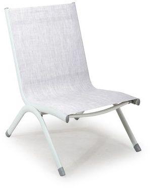 Chaise basse de jardin taupe