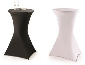Table haute pliante avec housse