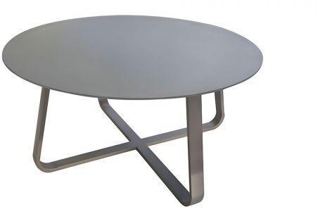 Table ronde en verre gris