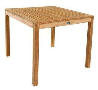 Table carrée en teck massif