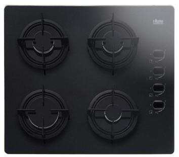 faure fgo62414ba plaque de cuisson 4 feux gaz verre noir. Black Bedroom Furniture Sets. Home Design Ideas