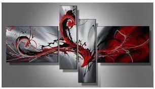 Tableau abstrait rouge Phoenix