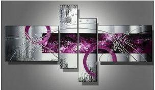 Tableau Design Fuschia gris