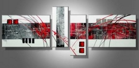 Tableau design rouge blanc