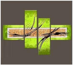 Tableaux design vert anis