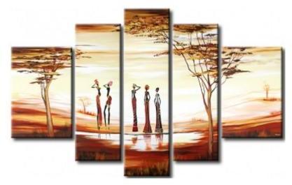 Tableau moderne femmes africaines