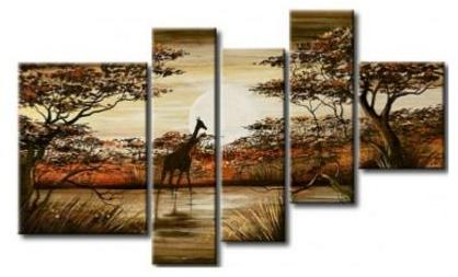 Tableau contemporain girafe