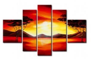 Tableau moderne Plaine Africaine