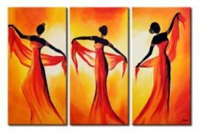 Tableau triptyque Danseuses