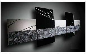 Tableau Abstrait design noir