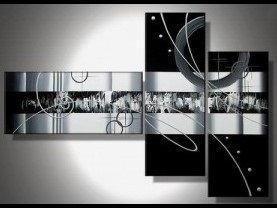 Tableau Triptyque Black White