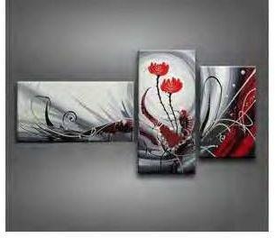 Tableau Triptyque Design Roses