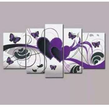 Tableau design purpples butterfly